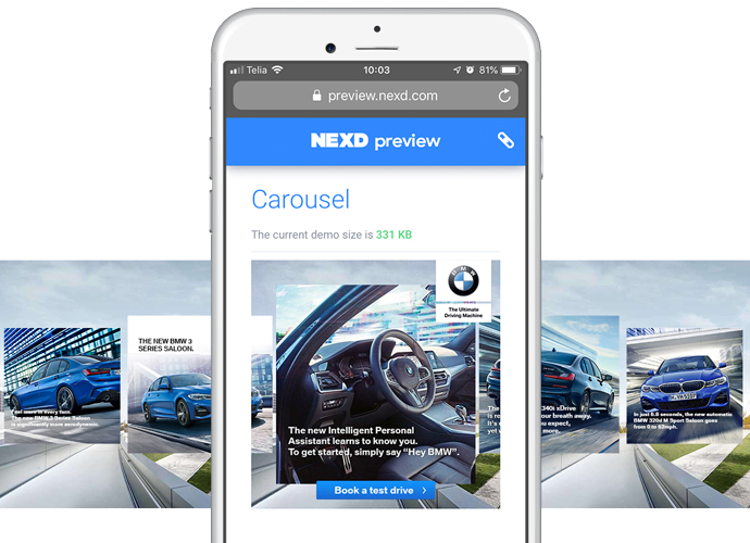 nexd carousel ads example multi benefit single product