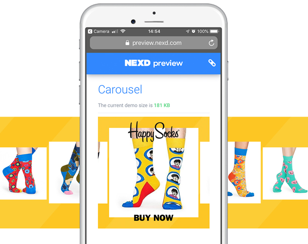 nexd carousel ads example multi product