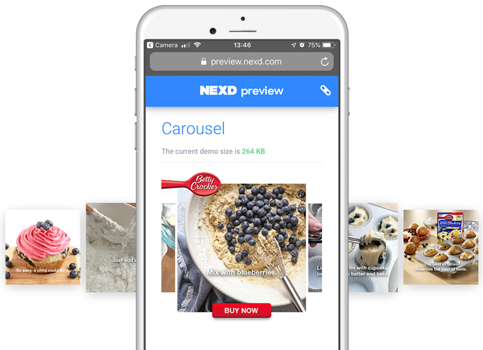 nexd carousel ads example product guide