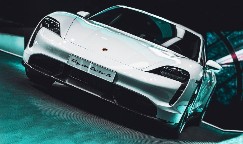 Porsche Taycan front view